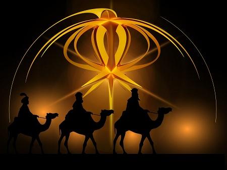 La navida, los reyes magos y los niños