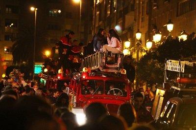 Cierre de la Cabalgata de Reyes en Madrid